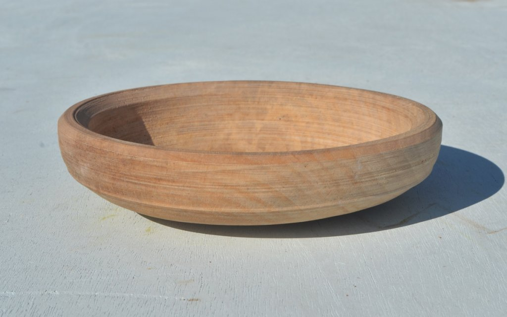 pole lathe turned wooden bowls