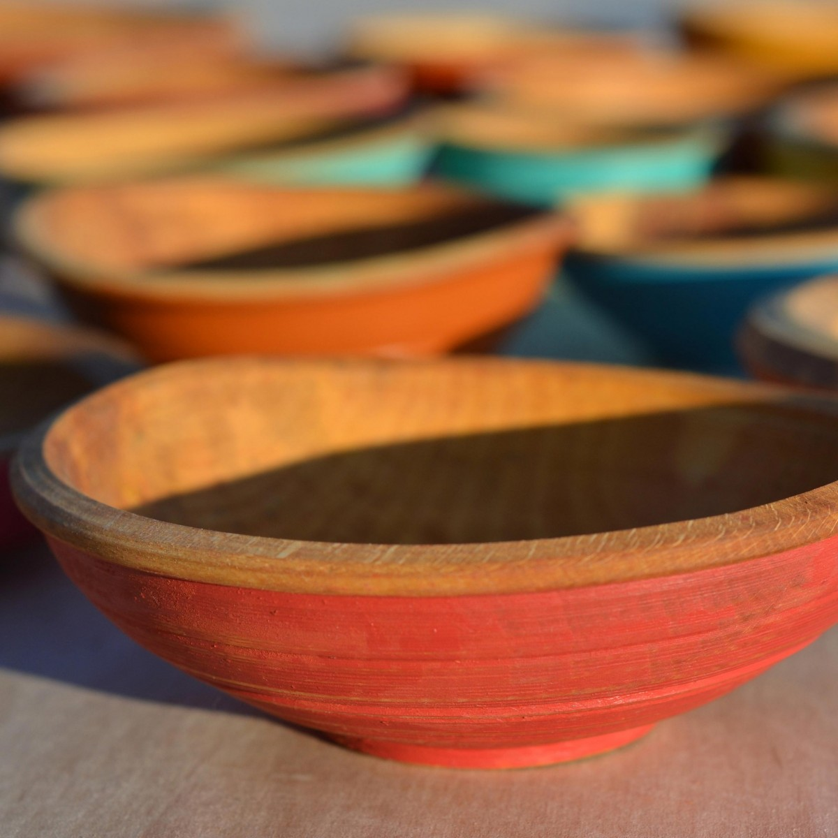 Painted bowls | Indian red