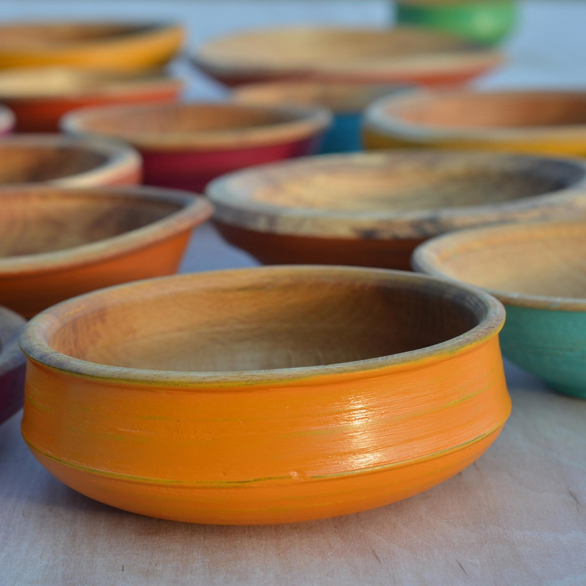 Painted bowls   Indian yellow
